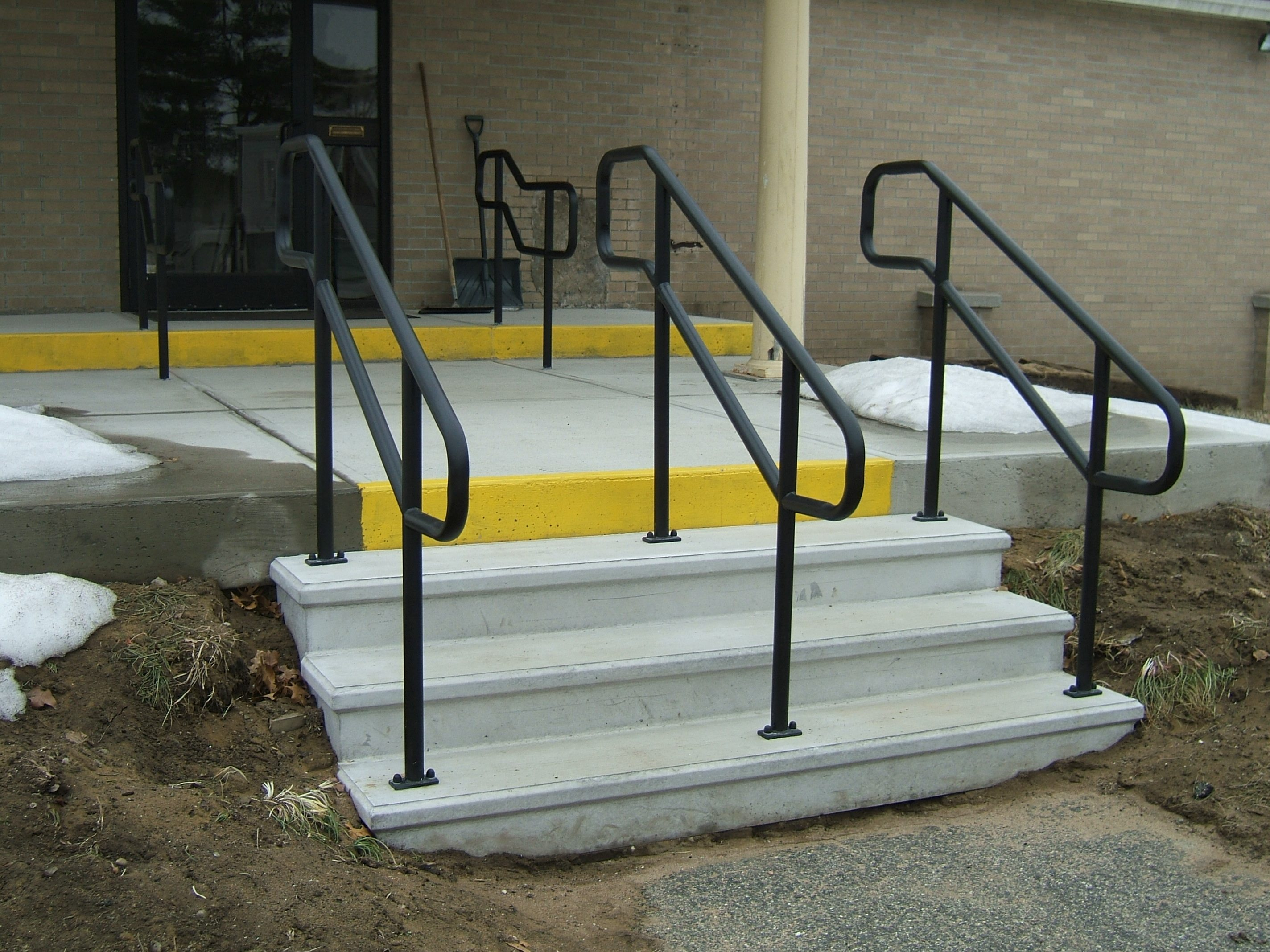 Exterior Stair Railings | Custom metal fences | Custom Rail Tech