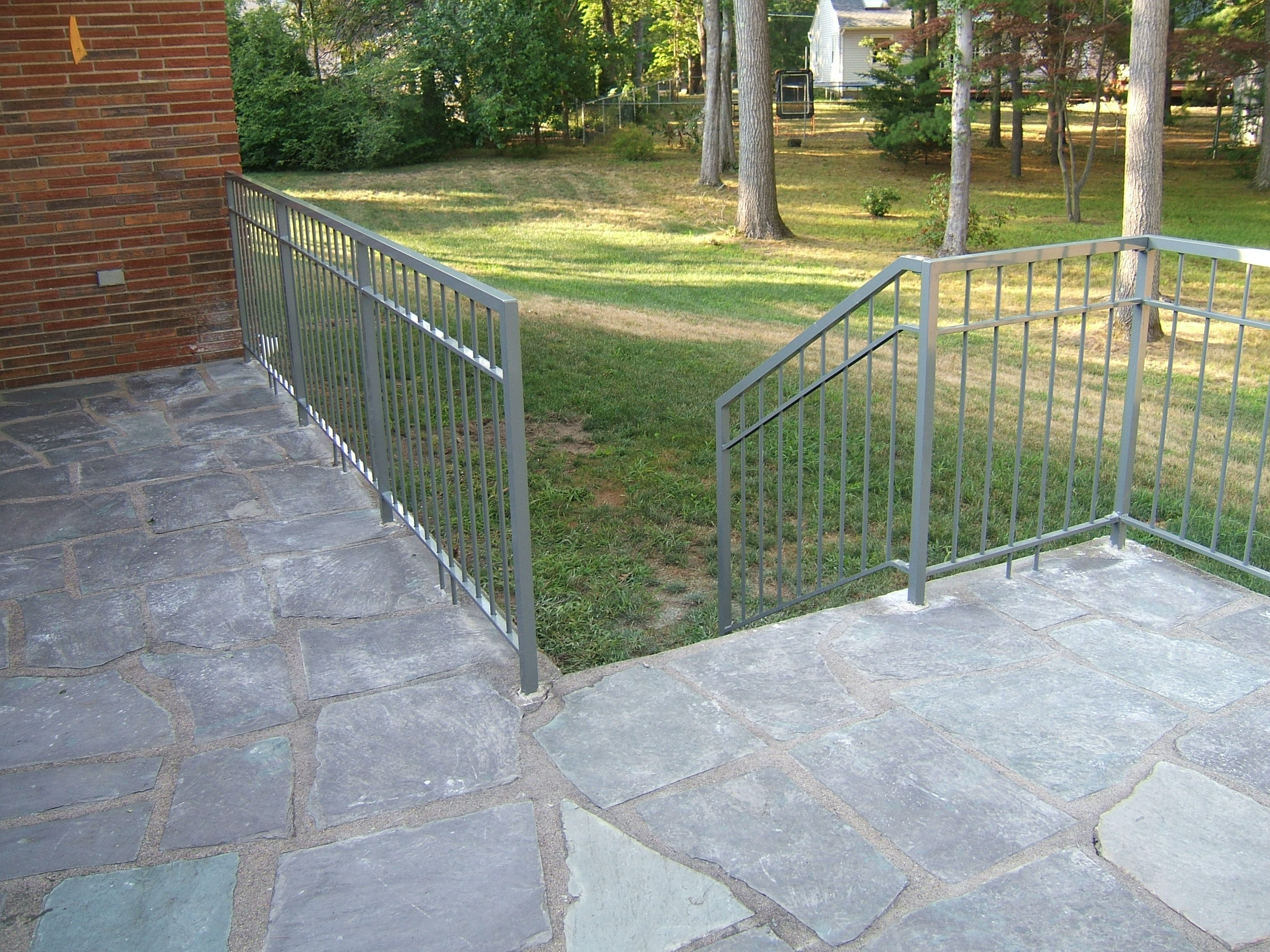 Our work custom metal fences custom rail tech for Decorative railings