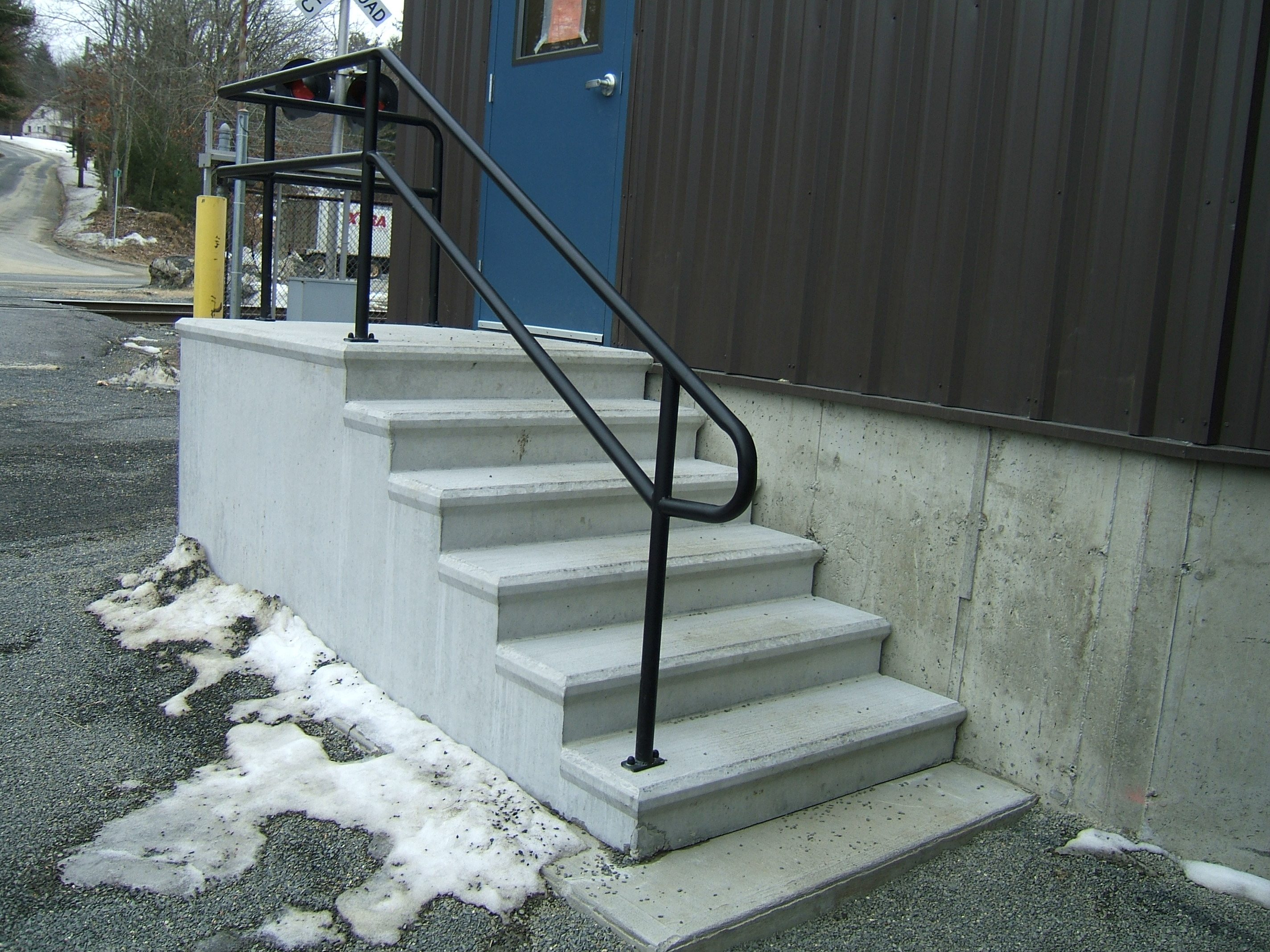 Exterior stair railings custom metal fences custom - Metal railings for stairs exterior ...