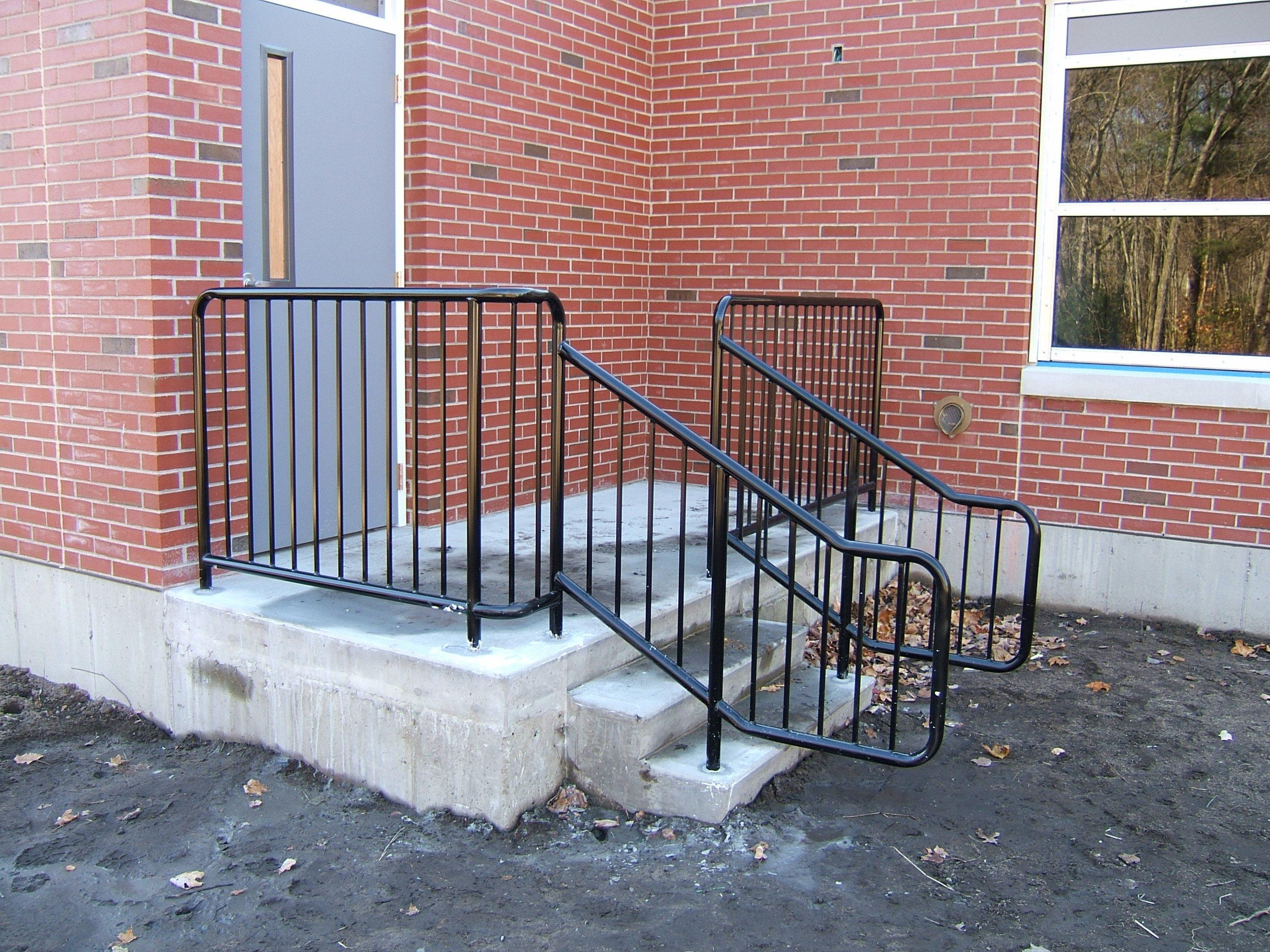 Exterior Stair Railings | Custom metal fences | Custom Rail Tech